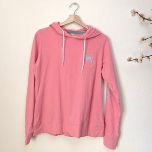 THE BLACK DOG Pink Hoodie Long Sleeve Top Small